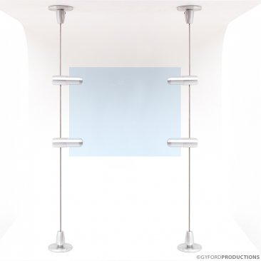 "Wire Kit EZK-14: Floor to Ceiling System for 1/2"" Material"